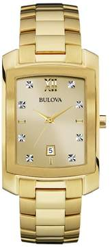 Bulova Men's Diamond Stainless Steel Watch - 97D107