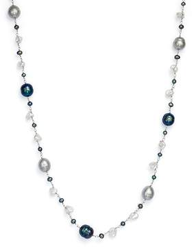 Bloomingdale's Cultured Freshwater Pearl and Keshi Pearl Necklace in 14K White Gold, 18