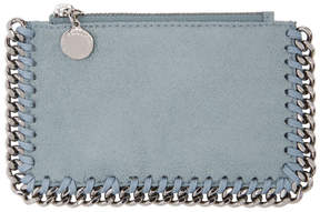Stella McCartney Blue Falabella Zip Card Holder
