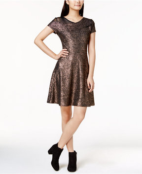 Bar III Metallic Fit & Flare Dress, Created for Macy's