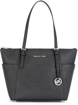 Michael Kors Jet Set Item Shopping Bag In Black Saffiano Leather - NERO - STYLE