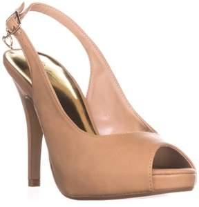Thalia Sodi Ts35 Camiila Sling-back Peep-toe Heels, Nude.