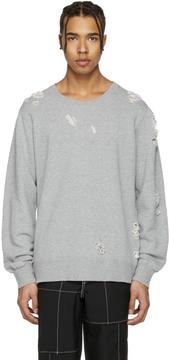Miharayasuhiro Grey Distressed Pullover