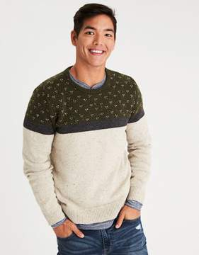 American Eagle Outfitters AE Bird's-Eye Crew Neck Sweater
