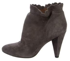 Marc by Marc Jacobs Scalloped Suede Ankle Boots