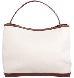 Loro Piana Gazebo Leather-Trimmed Canvas Bag