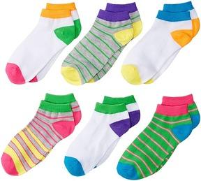 Jefferies Socks Multi Stripe Low Cut Socks 6-Pair Pack Girls Shoes