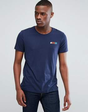 Esprit T-Shirt With Hashtag Embroidery