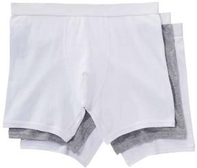 Joe Fresh Men's 3 Pack Jersey Boxer Briefs, White (Size XXL)