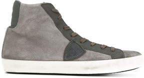 Philippe Model panelled hi-top sneakers