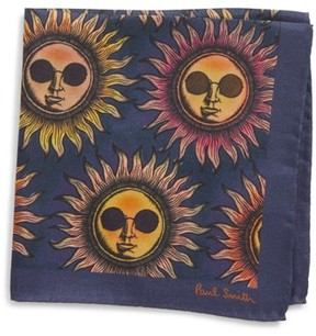 Paul Smith Men's Sun Print Silk Pocket Square