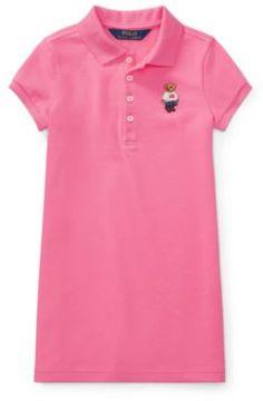 Polo Ralph Lauren Bear Mesh Dress Maui Pink 3T