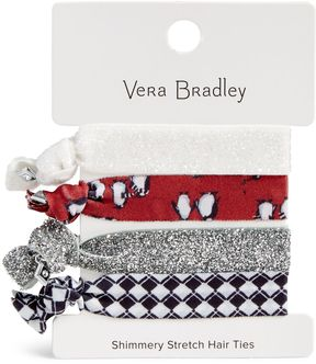 Vera Bradley Shimmery Stretch Hair Ties