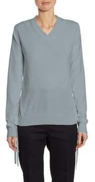 Jil Sander Lace-Up Cashmere Sweater