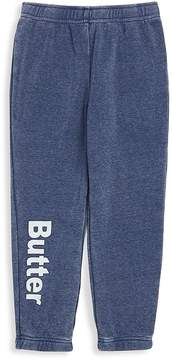 Butter Shoes Little Girl's Burnout Fleece Varsity Pants
