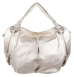Celine Metallic Leather Handle Bag