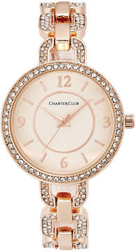 Charter Club Women's Pave Rose Gold-Tone Bracelet Watch 33mm, Created for Macy's