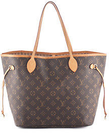 Louis Vuitton Brown Coated Canvas Monogram Neverfull MM Tote Handbag BP4042 MHL