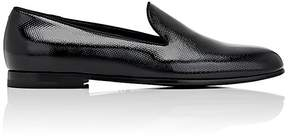 Giorgio Armani Men's Textured Patent Leather Venetian Slippers