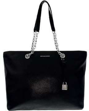 Michael Kors Women's Medium Mercer Chain Link Leather Leather Top-Handle Bag Tote - Black - BLACK - STYLE