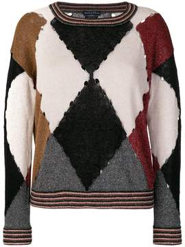 Ballantyne diamond print jumper