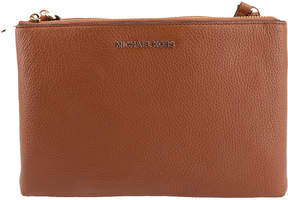 Michael Kors Brown Acorn Jet Set Leather Crossbody Bag - BROWN - STYLE