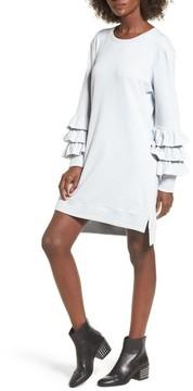 BP Women's Tier Sleeve Sweatshirt Dress