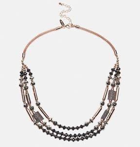 Avenue Layered Glitter Mesh Necklace