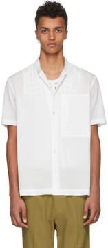 Issey Miyake White Diamond Pique Shirt