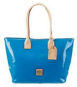 Dooney & Bourke As Is Patent Leather Double Handle Small Shopper - ONE COLOR - STYLE