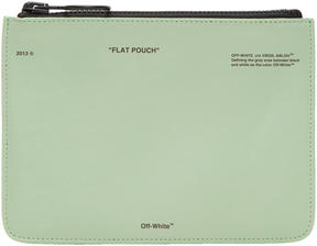 Off-White Green Pochette Pouch