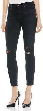 AG Jeans Legging Ankle Raw Hem Jeans in Raindrop - 100% Exclusive
