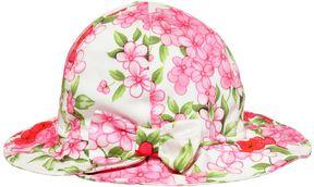 Miss Blumarine Floral Printed Stretch Cotton Hat
