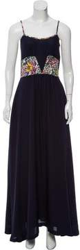 Band Of Outsiders Floral Print Maxi Dress