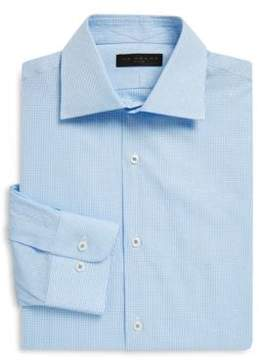Ike Behar Regular-Fit Gingham Pickstitch Cotton Dress Shirt