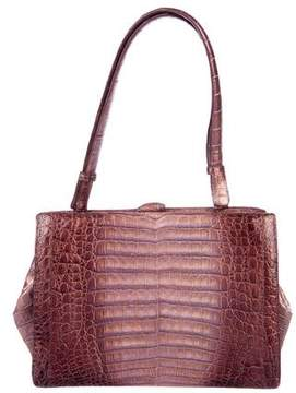 Nancy Gonzalez Iridescent Crocodile Frame Bag