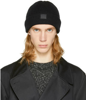 Acne Studios Black Knit Face Beanie