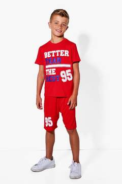 boohoo Boys Better Than The Rest Tee And Short Set