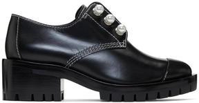 3.1 Phillip Lim Black Lug Zipper Pearl Oxfords