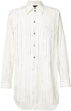Ann Demeulemeester Grise striped long shirt