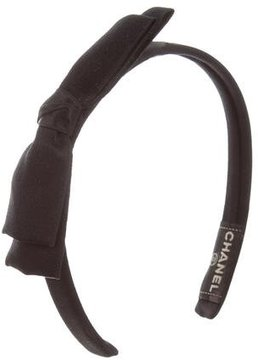 Chanel Satin Bow Headband
