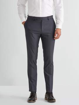 Frank and Oak The Laurier Textured Cotton Blend Trouser in Mixed Navy