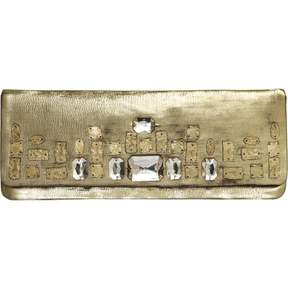 Christian Lacroix Vintage Gold Leather Clutch Bag