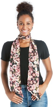 Sole Society Floral Printed Skinny Scarf