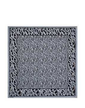 Lanvin | Square Logo Scarf | Pale blue