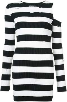 Amiri distressed striped dress