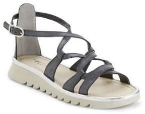 The Flexx Catchawave Cogle Leather Flatform Sandals
