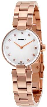 Rado Coupole Mother of Pearl Dial Rose Gold PVD Ladies Watch