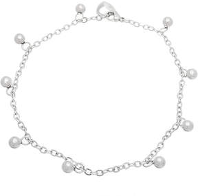 Bliss Stainless Steel Ball-Charm Anklet