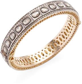 Amrapali Women's 14K Yellow Gold, Silver & 4.96 Total Ct. Diamond Bangle Bracelet